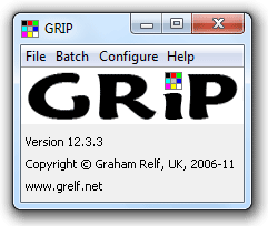 GRIP's main window
