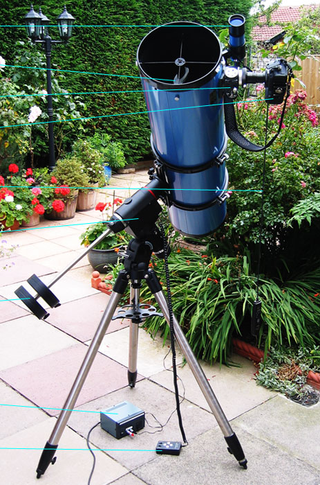Photo of the telescope on its mount